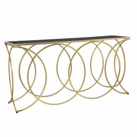 Modern Design Console in Iron and Mirror - Aletha