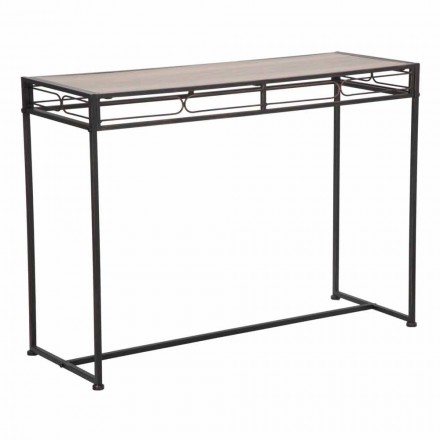 Modern Style Rectangular Living Room Console in Iron and MDF - Wendell