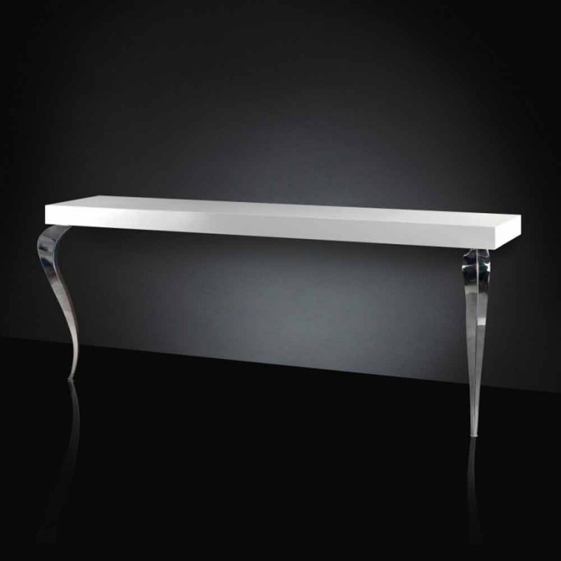 Console contemporary-style MDF and Luigi steel