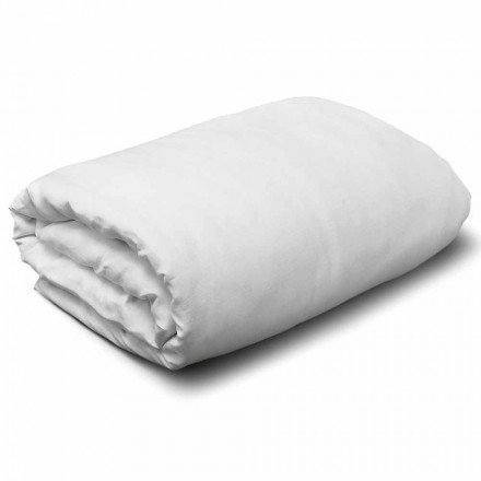 King Size, Single or Full-size White Linen Duvet Cover Made in Italy - Blessy