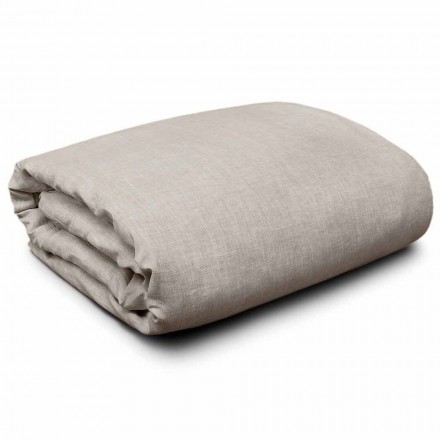 Duvet Cover in Natural Linen for King-size, single and full-size beds Made in Italy - Blessy