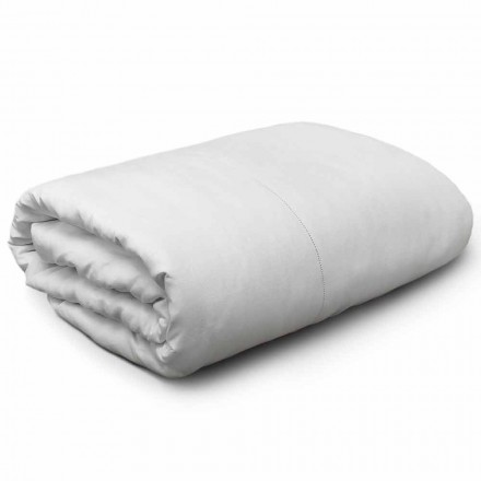 Fill-size or King Size Duvet Cover in White Linen Made in Italy - Chiana