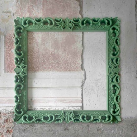 Colored decorative wall frame Slide Frame Of Love, made in Italy