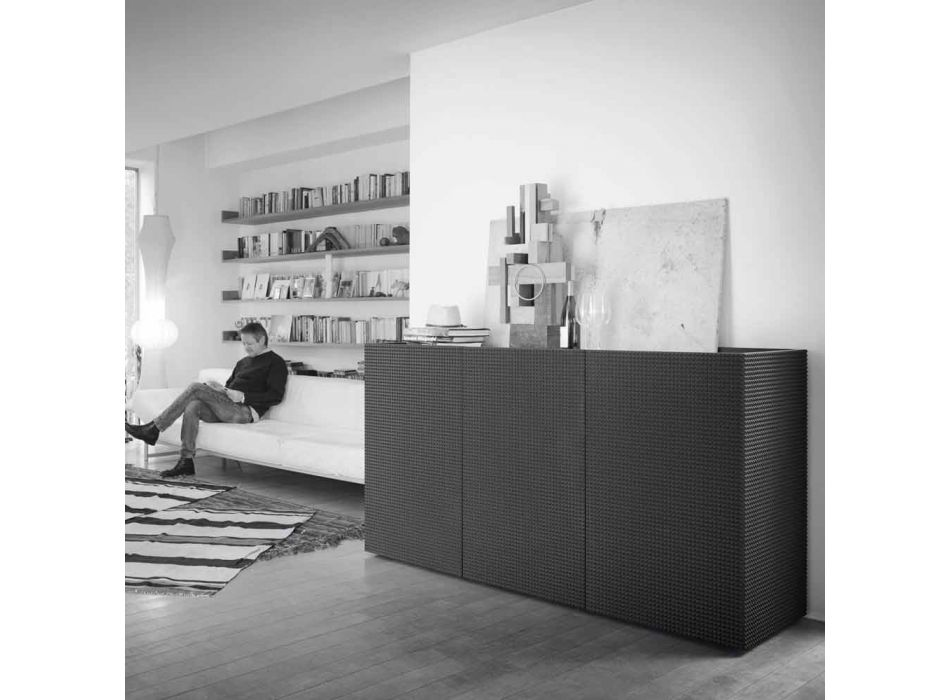 2 black black sideboard with 2 doors and removable chest of drawers Flora