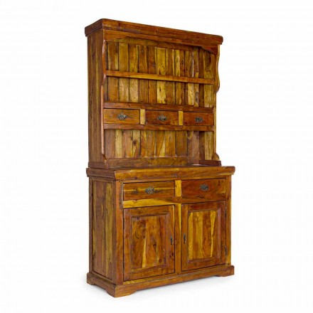 High Classic Style Sideboard with Solid Acacia Wood Structure - Umami