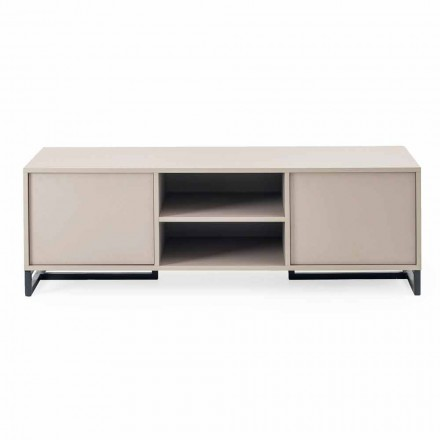 Modern Low Sideboard in Mdf and Metal Made in Italy – Rohan