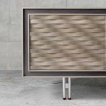 Modern design sideboard in solid wood, W192 x D 50 cm, Teresa
