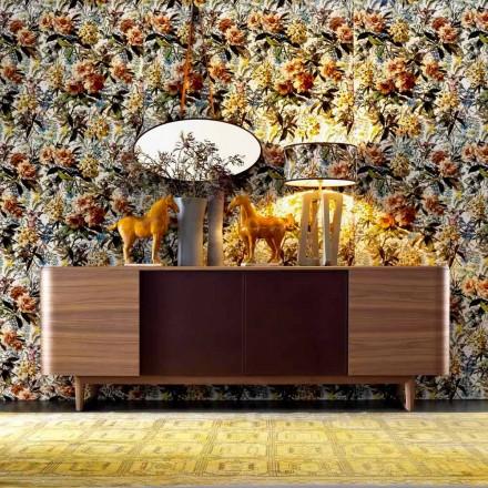 Grilli York wood veneer cupboard with 4 doors 100 % made in Italy