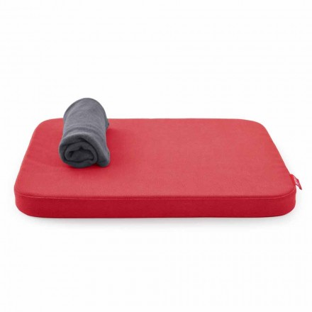 Soft Dog Bed with Cushion and Fleece Blanket Made in Italy - Calduccio