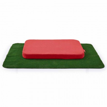 Kennel for Dogs with Cushion and Carpet in Synthetic Grass Made in Italy - Game