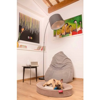 Cushion for Indoor Dogs with Removable Cover in Stain-Resistant Microfiber - Colosseum