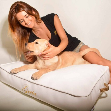 Faux leather dog bed Doggy Cloud, modern design,made in Italy by Trona