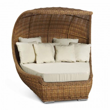 Design Daybed in Luxury Woven Synthetic Rattan - Yves
