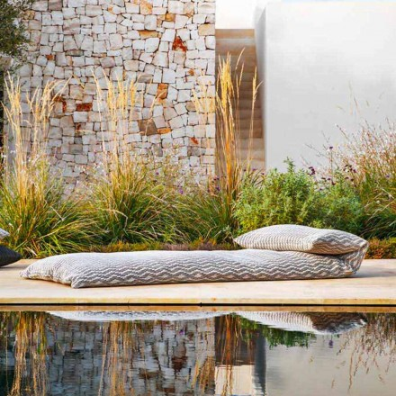 Single Daybed Outdoor Design Pouf, High Quality Made in Italy - Emanuela
