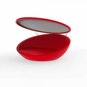 Modern design daybed Ulm by Vondom, in polyethylene resin