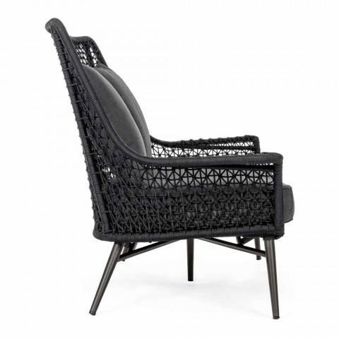 2 Seater Outdoor Design Sofa in Aluminum and Homemotion Fabric - Nigerio