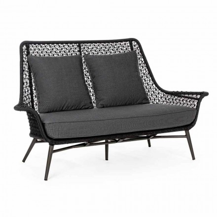 2 Seater Outdoor Design Sofa in Aluminum and Homemotion Fabric - Nigerio