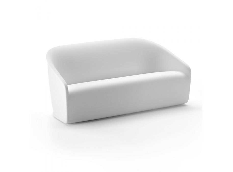 2 Seater Outdoor Sofa in Colored Polyethylene Made in Italy - July