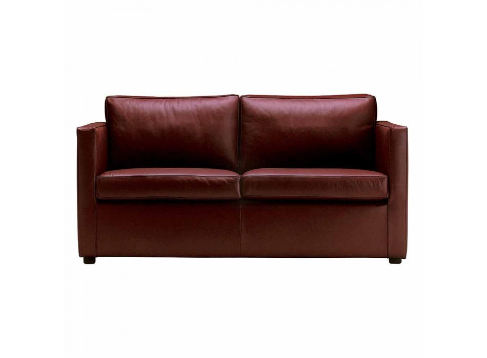 2 Seater Sofa Padded and Upholstered in Fine Made in Italy Leather - Centauro