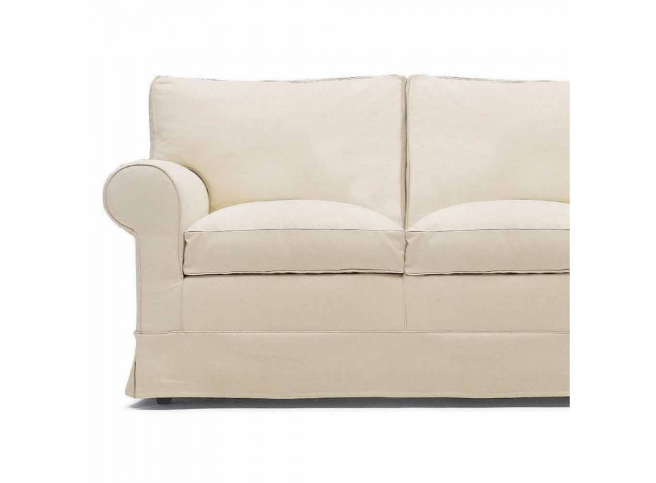 2 Seater Sofa Upholstered and Covered in Fabric Made in Italy - Andromeda