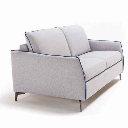 2 seater large sofa Erica lenght 165 cm, made in Italy modern design
