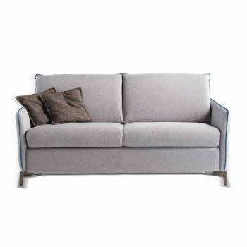 Sofa 2 seats maxi L.165cm faux leather / fabric made in Italy Erica