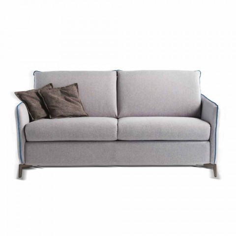 Sofa 2 seats maxi L.165cm faux leather / fabric made in Italy Erica