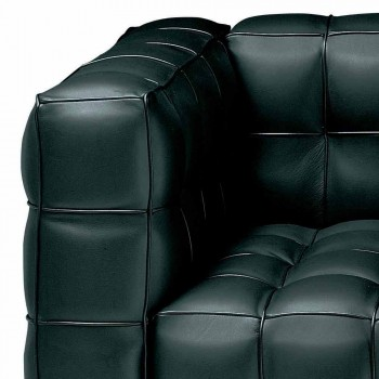 3 Seater Sofa in Quality Made in Italy Quilted Effect Leather - Vesuvius