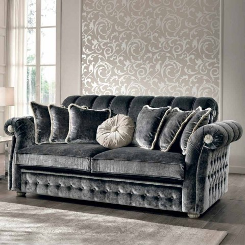 Made in Italy 3 seater fabric sofa Florence, classic design