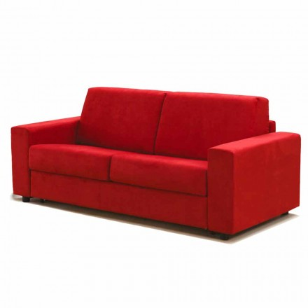 3 seater large sofa Mora, made in Italy, fabric/leatherette upholstery