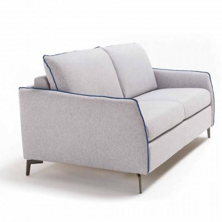 3 seater maxi sofa Erica L. 205 cm, fabric/leatherette upholstery