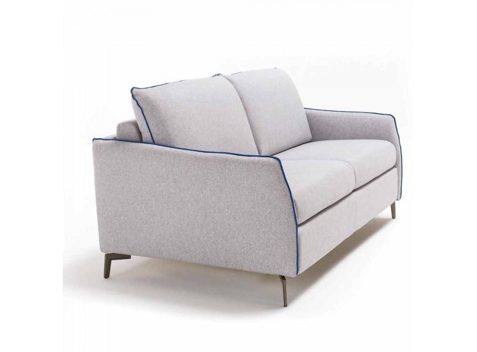 3 seater maxi sofa L205 cm modern design in eco-leather / Erica fabric