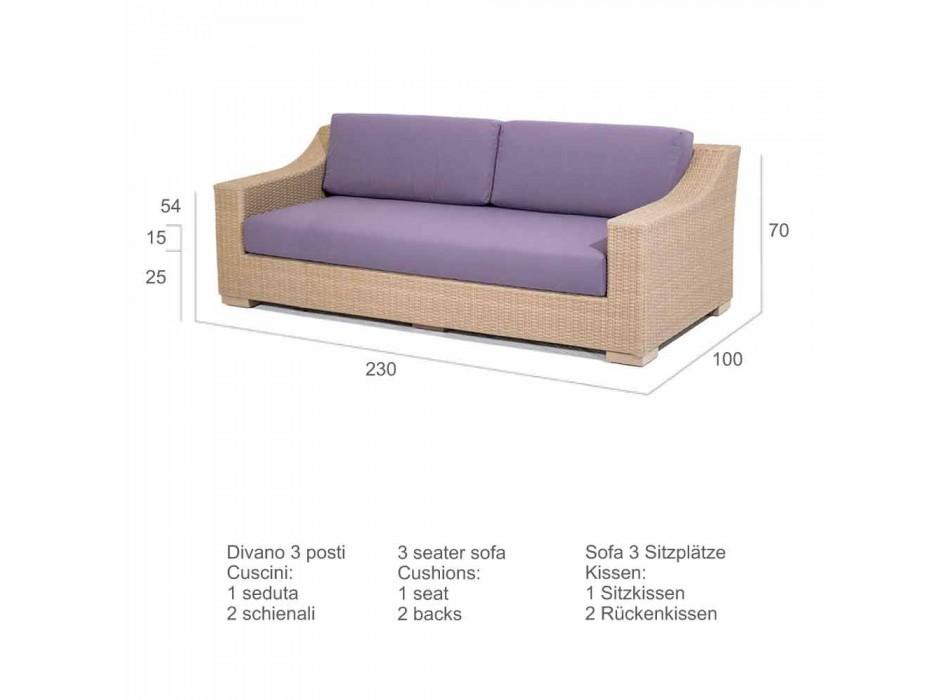 3 seater sofa Outdoor polyethylene and Joe Tempotest