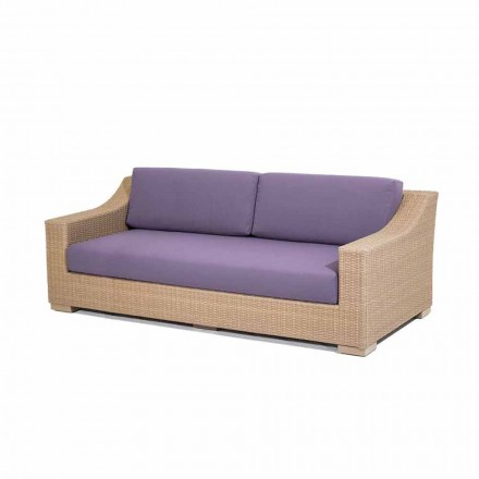3 seater garden sofa Joe,  polyethylene and Tempotest fabric