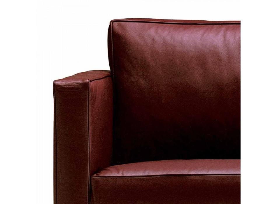 3 Seater Sofa Upholstered in High Quality Made in Italy Leather - Centauro