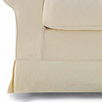 3 Seater Sofa Covered in High Quality Made in Italy Fabric - Andromeda