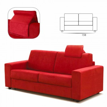 2 seater modern design imitation leather sofa / fabric made in Italy Mora