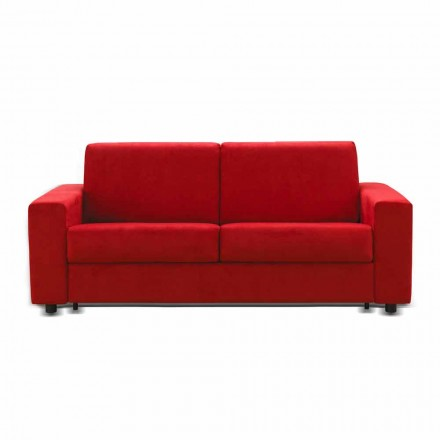 2 seater sofa Mora, made in Italy, fabric/leatherette upholstery