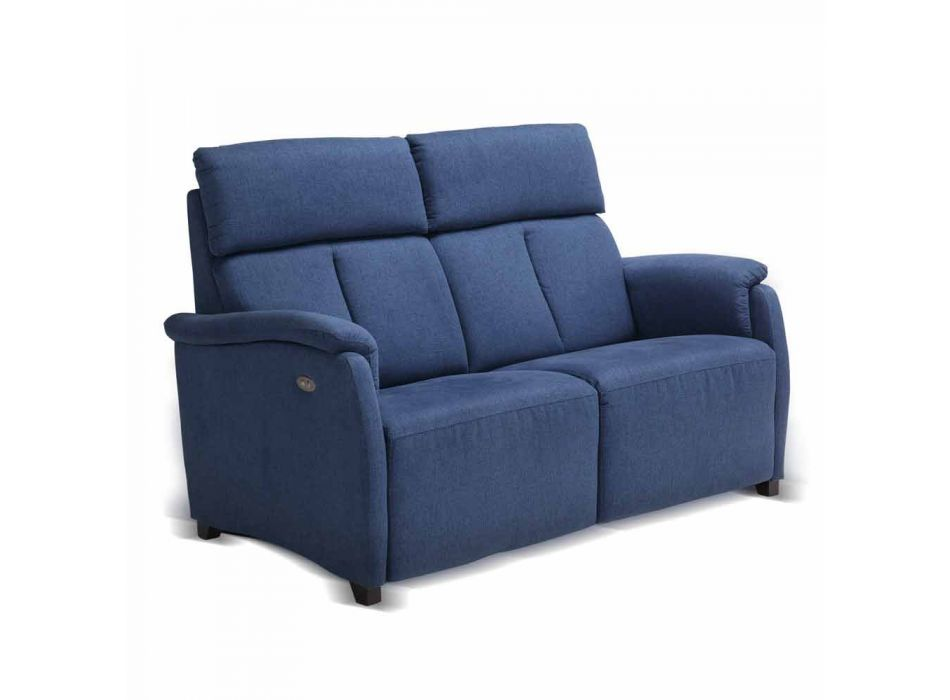 Modern design 2 seater sofa in leather, eco-leather or Gelso fabric