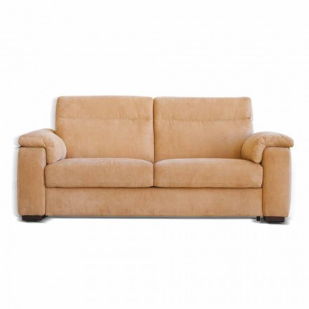 2 seater sofa Lilia, fabric or faux leather upholstery, made in Italy
