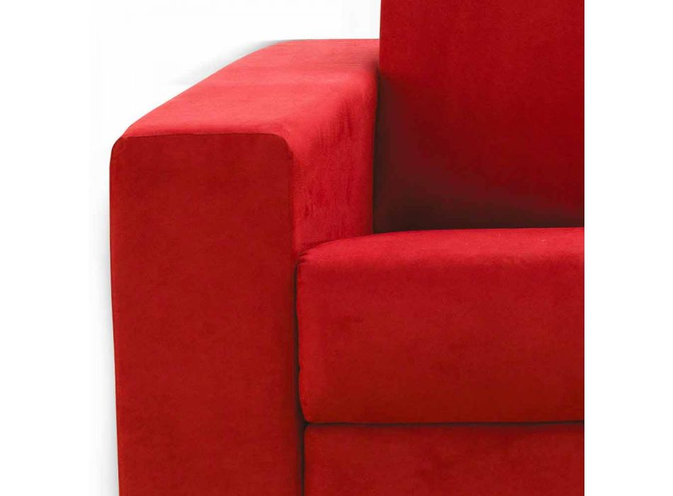 Modern 2-seater maxi sofa in eco-leather / fabric made in Italy Mora