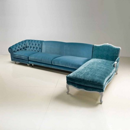 Luxury design corner sofa Narciso, made in Italy, classic style