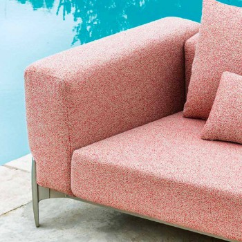 5 Seater Outdoor Corner Sofa in Aluminum Design in 3 Finishes - Filomena