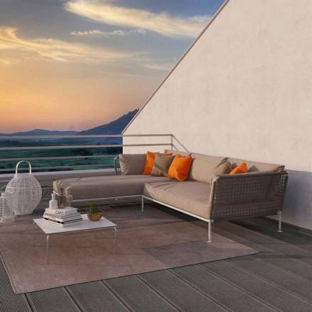 Modern Design Outdoor Corner Sofa in Dove Gray or White Fabric - Ontario3