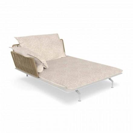 Garden Chaise Longue Sofa in Aluminum and Fabric - Cruise Alu by Talenti