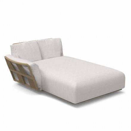 Garden Chaise Longue Sofa in Fabric and Aluminum - Scacco by Talenti