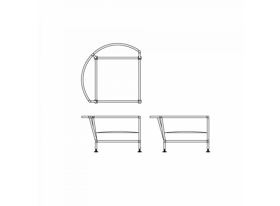 Turtledove Fabric Circular Garden Sofa Made in Italy - Ontario4