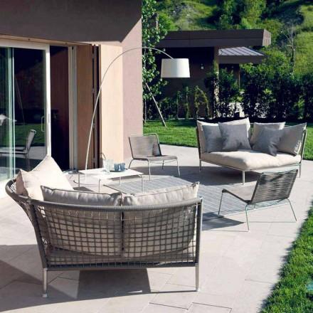 Circular Garden Sofa Fabric Made in Italy Design - Ontario4