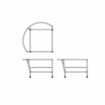 Circular Outdoor Sofa in White Fabric Design Made in Italy - Ontario4