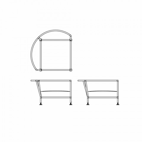 Circular Sofa for Outdoor in White Fabric Design Made in Italy - Ontario4